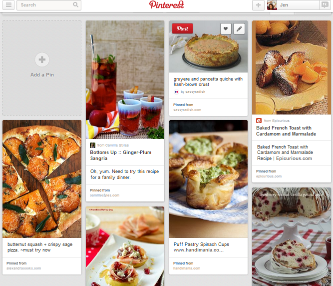 Pinterest Board for Christmas Brunch Menu Planning